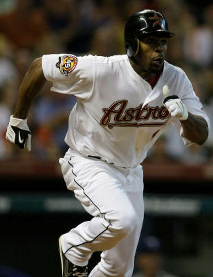 Michael Bourn's speed on the basepaths and defense in center were keys to his All-Star selection. Photo: Melissa Phillip, Chronicle
