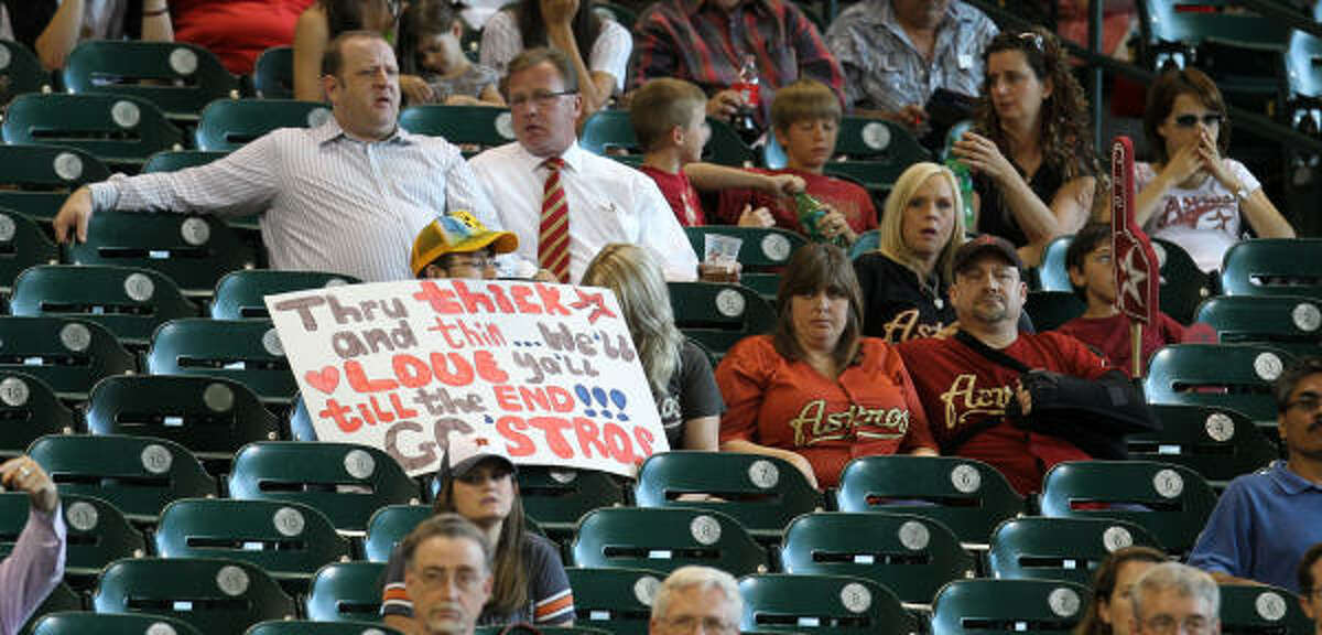 Astros fans will have to watch young players who might not ever equal the players for whom they were traded.
