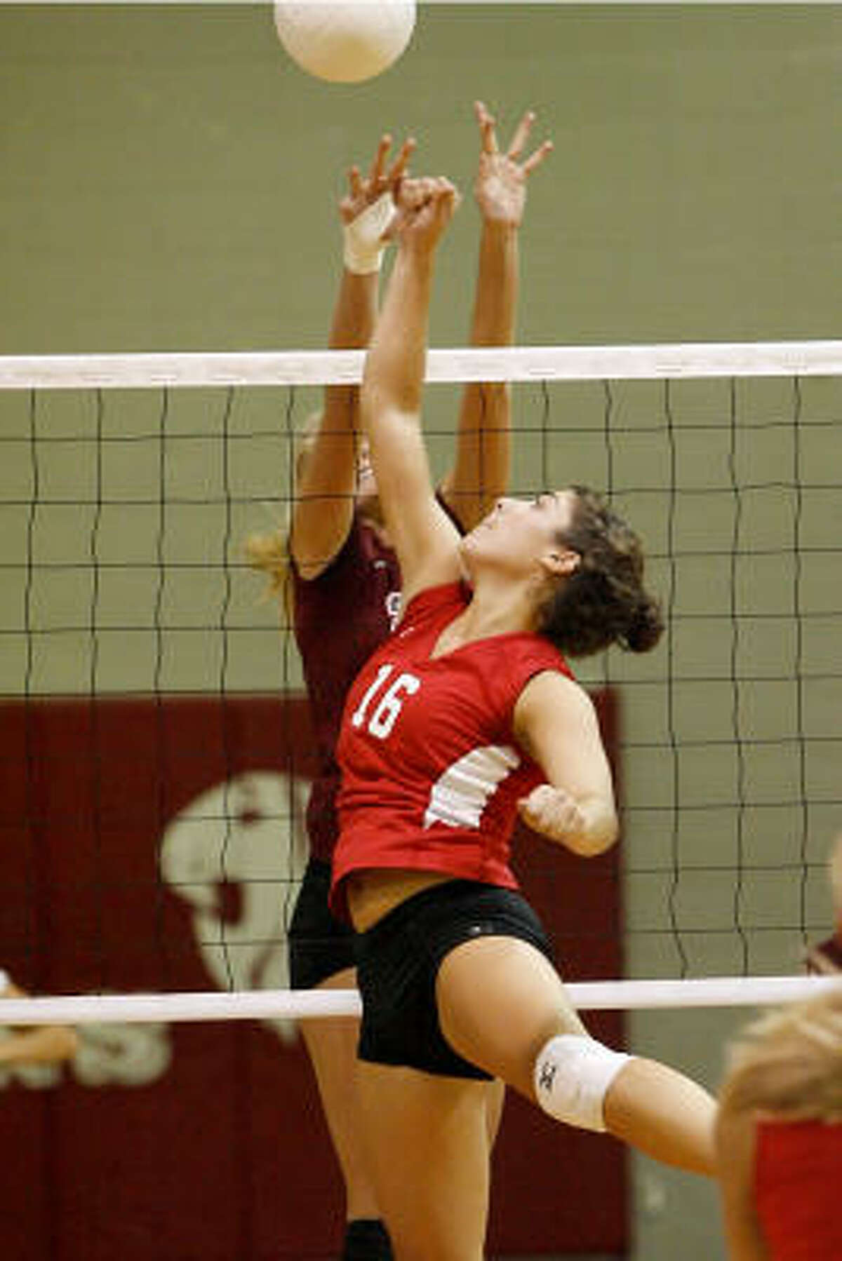 Third team Jordan Moore (16), setter, senior, Katy