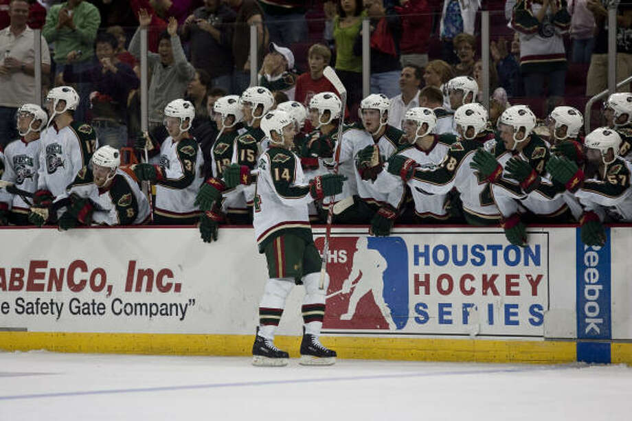 The Aeros will host the San Antonio Rampage Friday night in their exhibition opener. Photo: Nathan Lindstrom, For The Chronicle