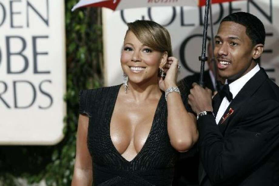 Mariah Carey started off the year at the Golden Globes ... by showing us too much of hers. Photo: AP