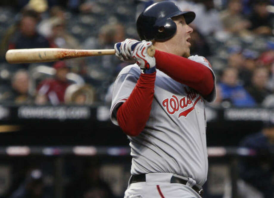 A picture of health and consistency, New Caney native Adam Dunn provides the free-agent market with a top-tier slugger. Photo: Kathy Willens, AP