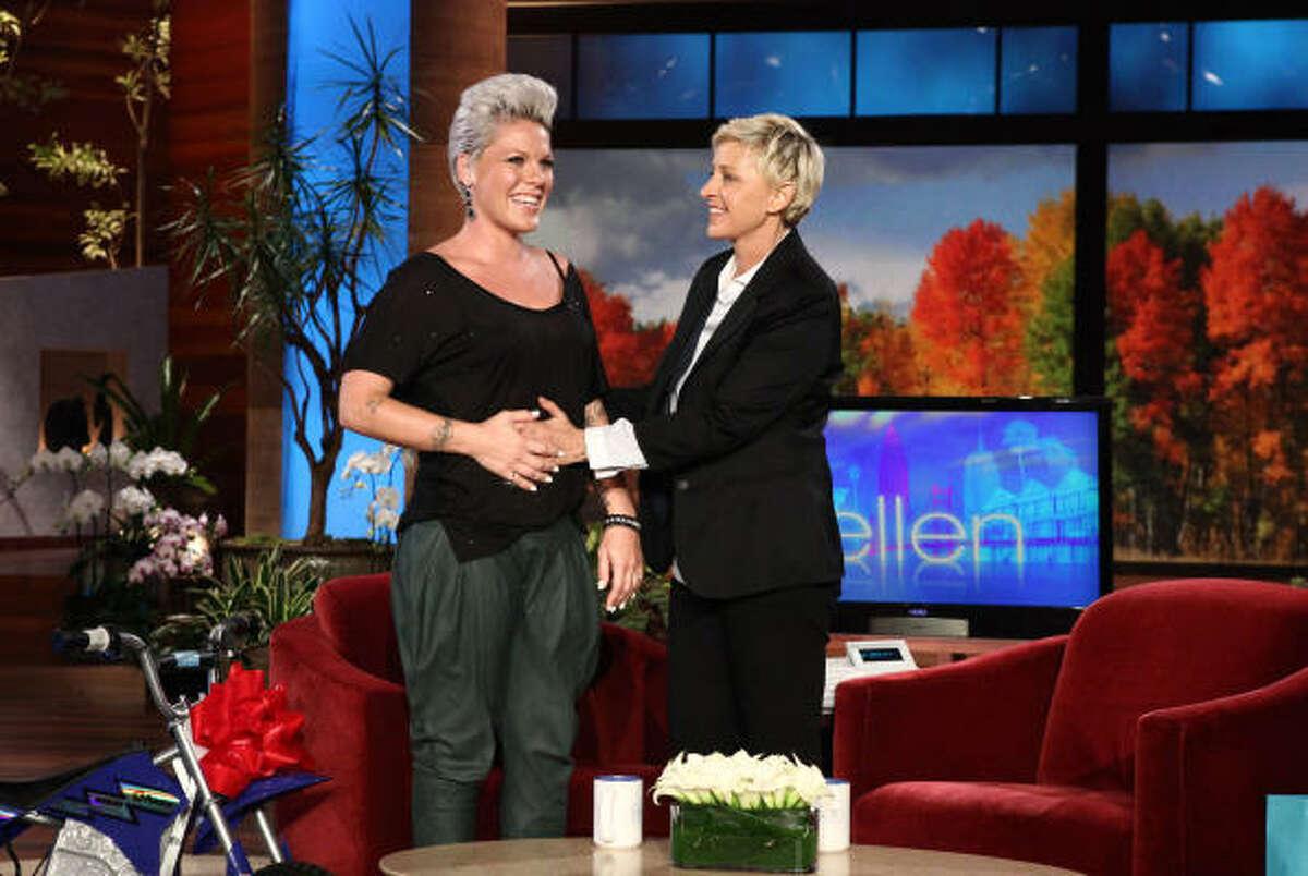 Pink confirmed her pregnancy on Ellen