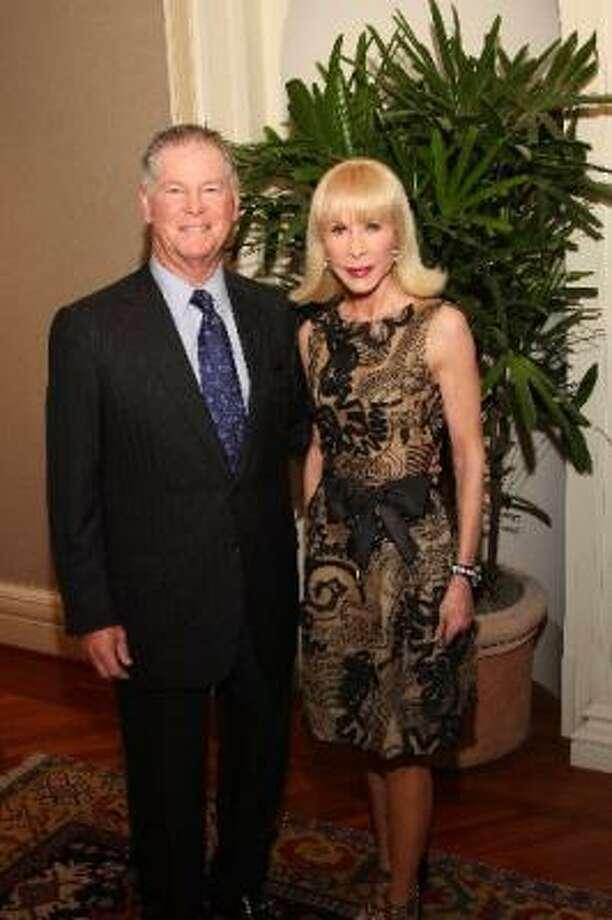 Steve Lasher and Diane Lokey Farb Photo: KIM COFFMAN