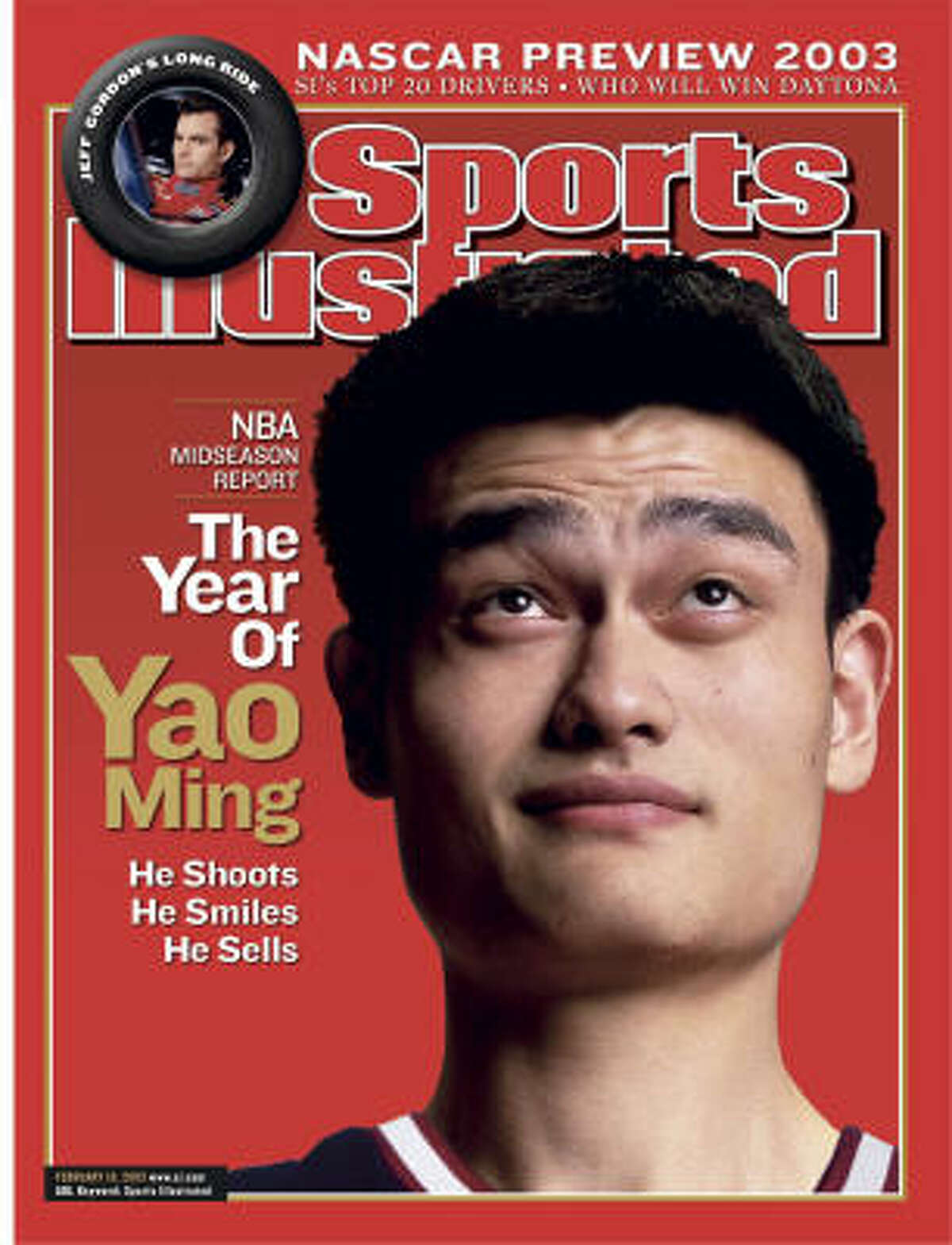 Yao averaged 13.5 points and 8.2 rebounds in his first season in 2002-03, finishing second to Phoenix's Amar'e Stoudemire in voting for NBA Rookie of the Year.