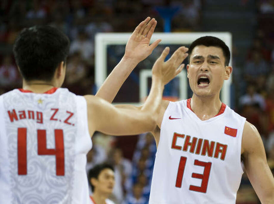 Olympic forceYao played for China in the 2000, 2004 and 2008 Olympics. In the 2004 Olympics, he scored 39 points in a win over New Zealand. The 2008 team advanced to the quarterfinals. Photo: Smiley N. Pool, Chronicle