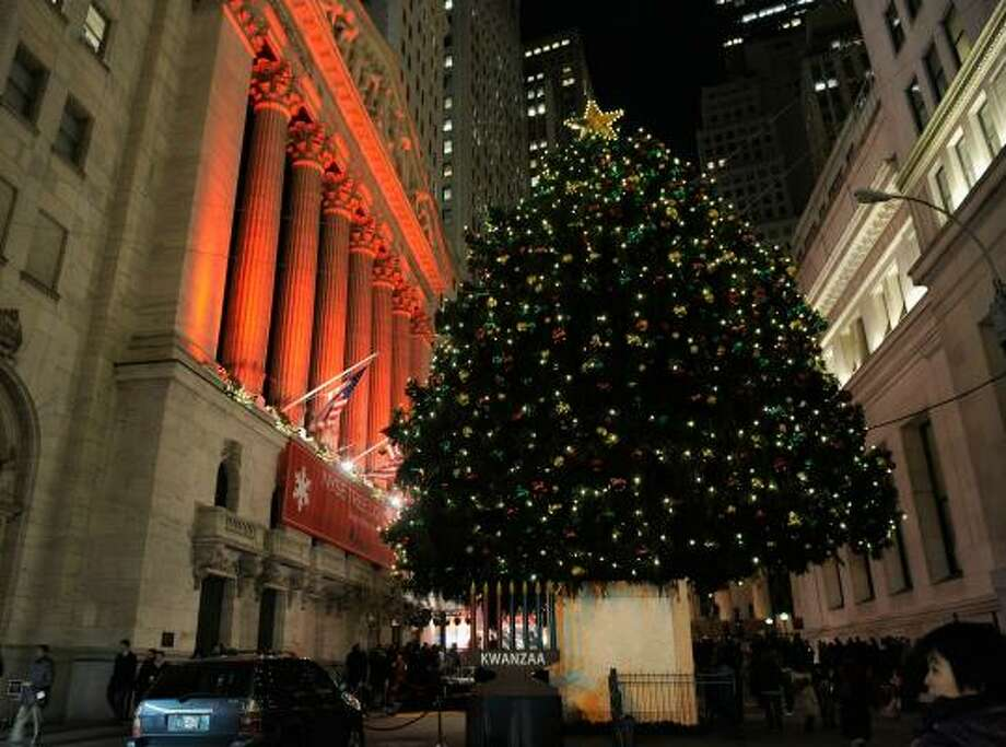 In front of the New York Stock Exchange in New York City Photo: Jemal Countess, Getty Images