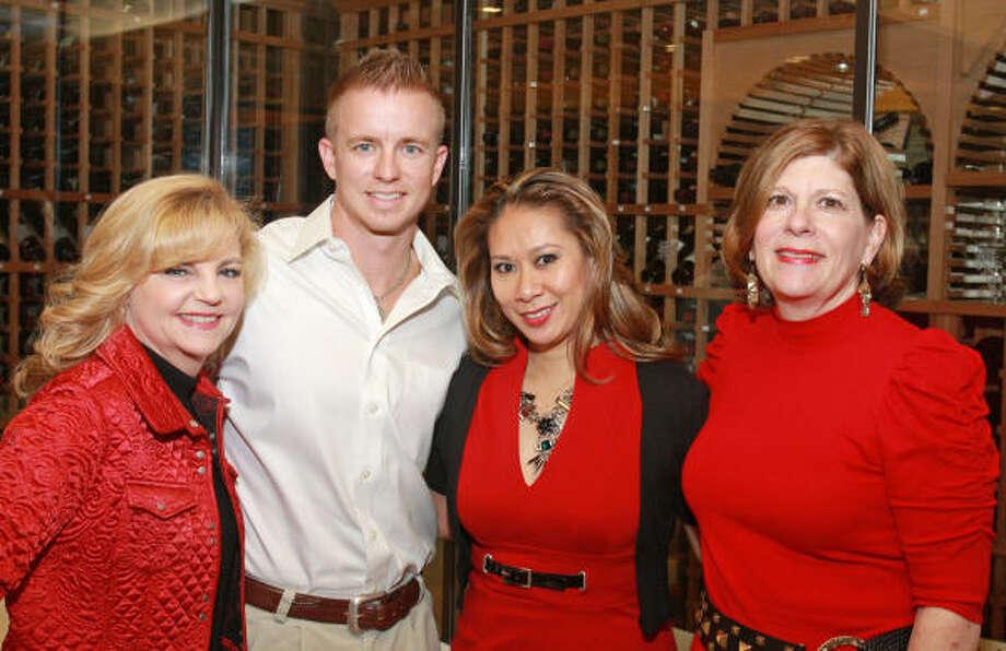 Kim Padgett, Jason Noland, Lauren Nolasco and Karen Lee Goulding Photo: Gary Fountain, For The Chronicle