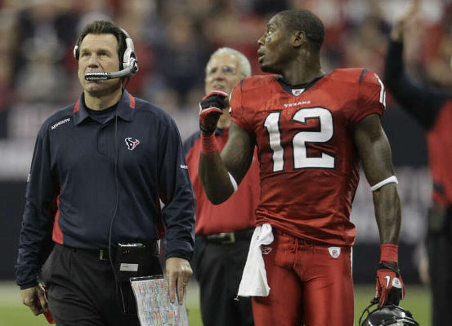 Dec. 13: Ravens 34, Texans 28 (OT) Coach Gary Kubiak and the Texans rallied from a 28-7 third-quarter deficit before falling in overtime. The Texans dropped to 5-8 and have all but fallen out of playoff contention. Photo: Karen Warren, Chronicle