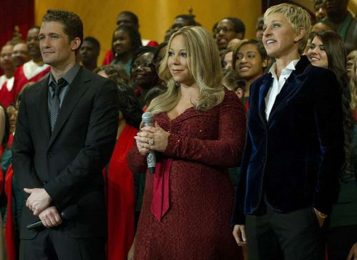 Among the guests were Matthew Morrison (from Glee), Mariah Carey and Ellen Degeneres.