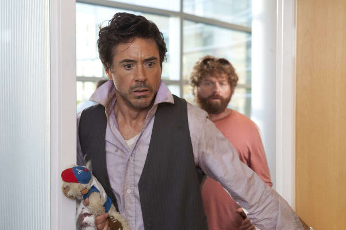 Due Date , $2.55 million: A father-to-be gets caught up in a road-trip misadventure. Starring Robert Downey Jr., left, and Zach Galifianakis.