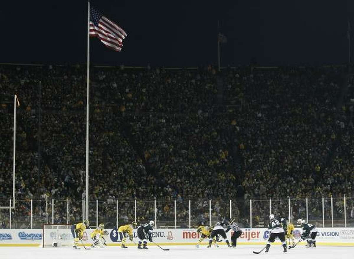 """""""It was just amazing to see all those people — probably the loudest environment I've ever been in,"""" said Michigan's Carl Hagelin describing the 'Big Chill' game."""