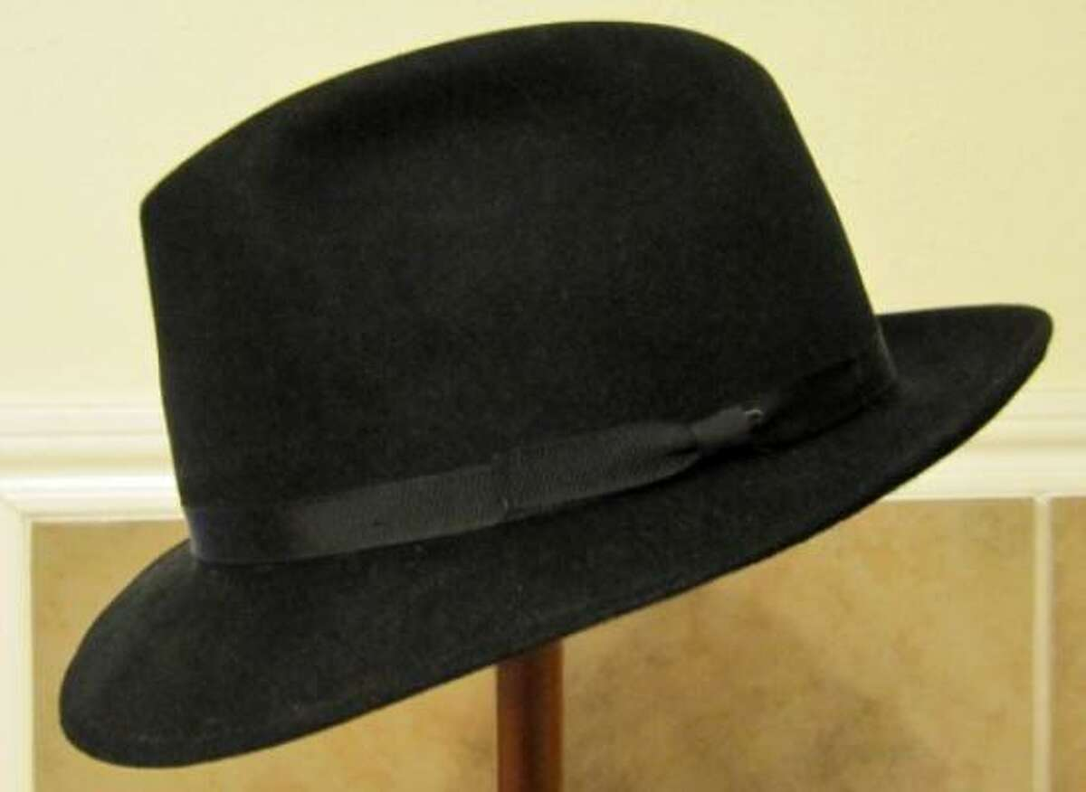 Fur-felt fedora. A classic accessory in a man's wardrobe. The simplicity of the hat commands respect.