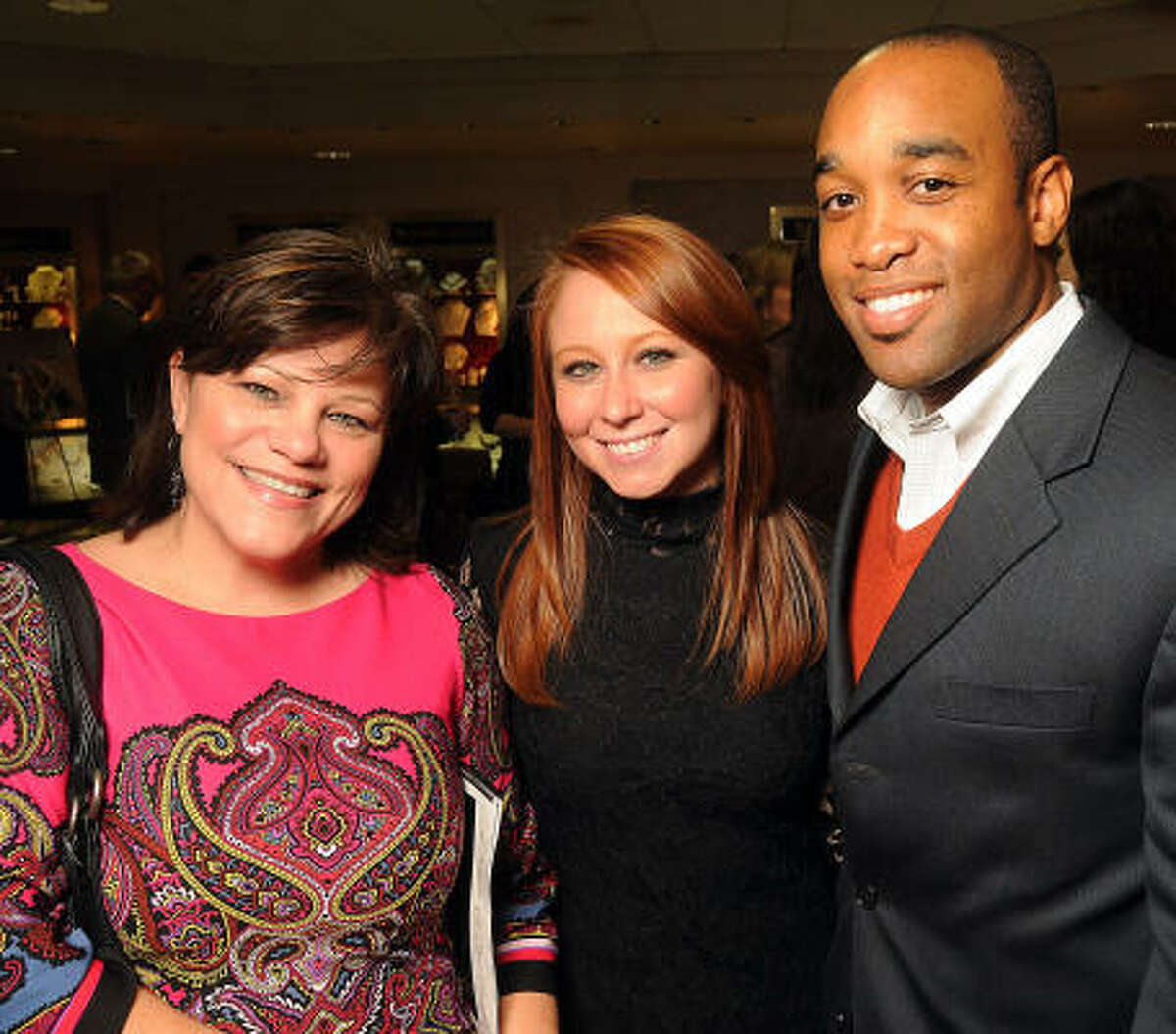 Carla Rogers, Erin Kapner and Clarence Estes