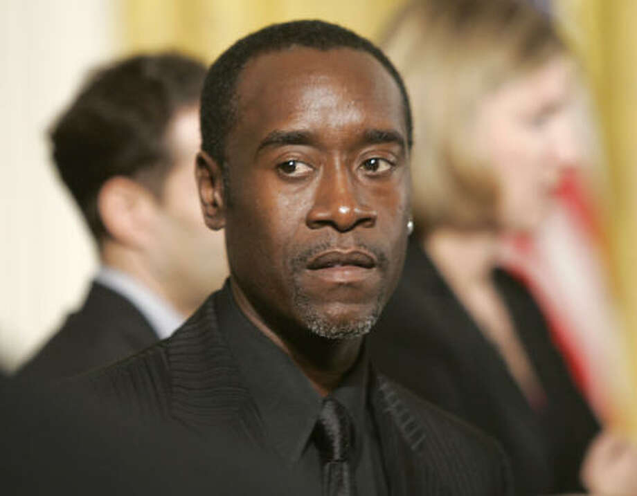 "Don Cheadle keeps losing money gambling with Kristen Bell. The actress said her ""House of Lies"" co-star can't stop making bets with her, losing his $40-a-day food allowance via ""Rock, Paper Scissors."" She said, ""I have won $800 from Don Cheadle (and) I don't plan on giving any of it back."" Photo: LAWRENCE JACKSON, AP"