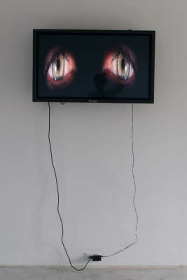 Michael Brims' video Eyes is on view as part of Quantum Dada at Gallery Sonja Roesch Photo: Gallery Sonja Roesch