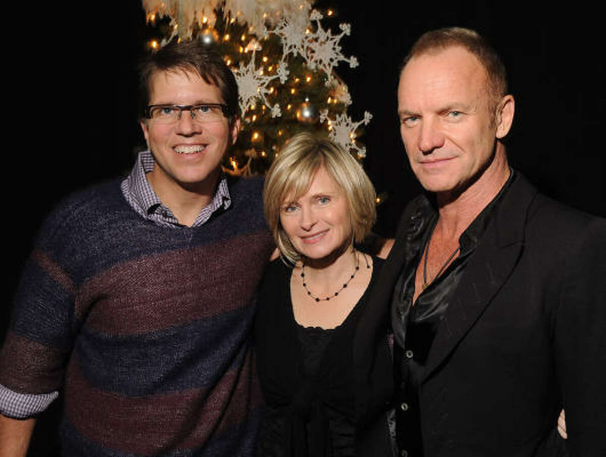 Mark and Becky Lanier hosted singer Sting at their annual big-time Christmas bash in Houston on Sunday.