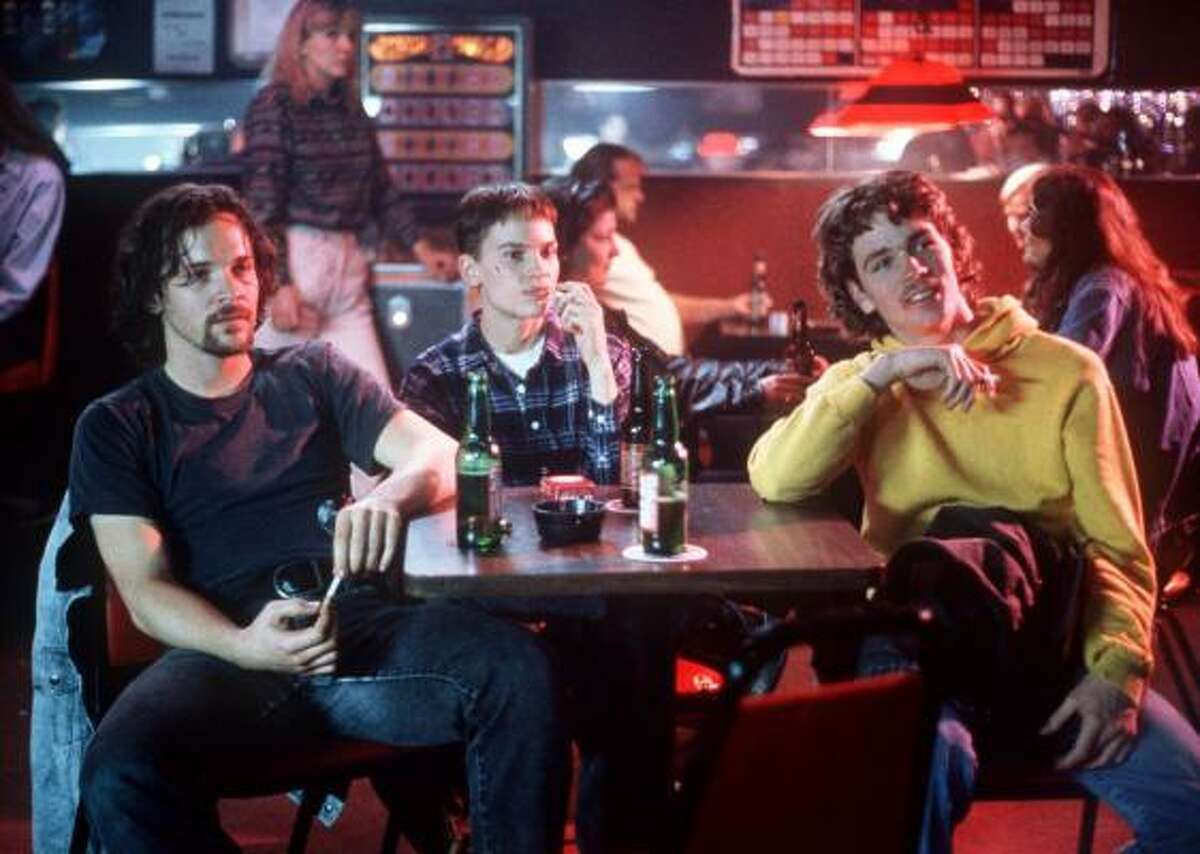 Hilary Swank , center, won an Oscar for her portrayal of transgendered teen Brandon Teena in the film Boys Don't Cry. The movie was based on a true story and was noted for its touching portrayal of a teen struggling with identity issues.