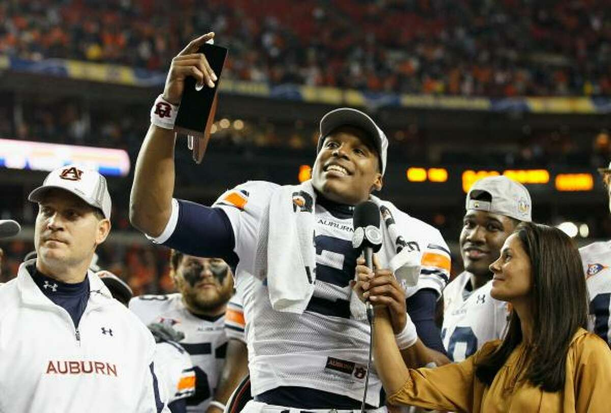Dec. 4: Auburn 56, South Carolina 17 Quarterback Cam Newton and Auburn are heading to the BCS national championship game after beating South Carolina for the SEC title.