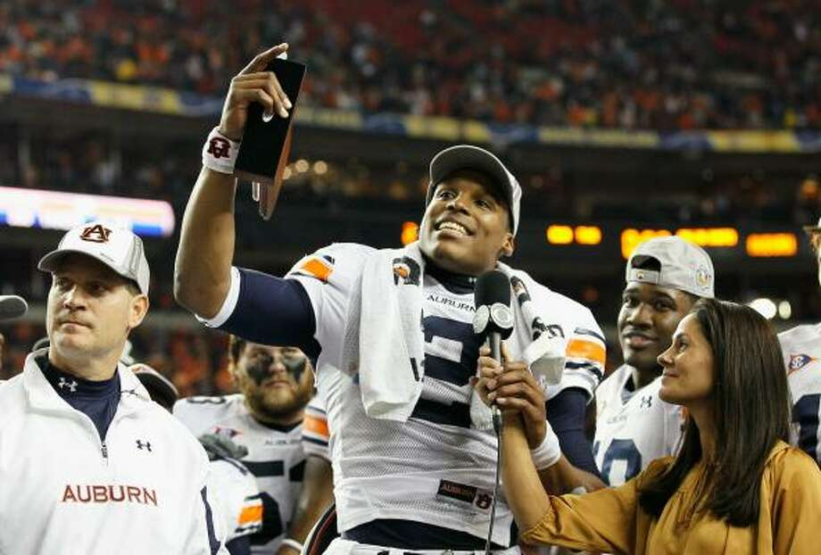 Dec. 4: Auburn 56, South Carolina 17 Quarterback Cam Newton and Auburn are heading to the BCS national championship game after beating South Carolina for the SEC title. Photo: Kevin C. Cox, Getty Images