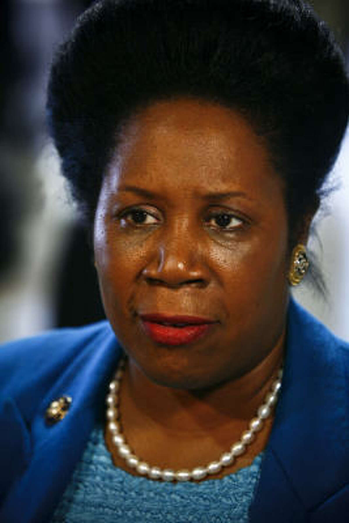 Rep. Sheila Jackson Lee sided with Hillary Clinton in the 2008 Democratic presidential contest.