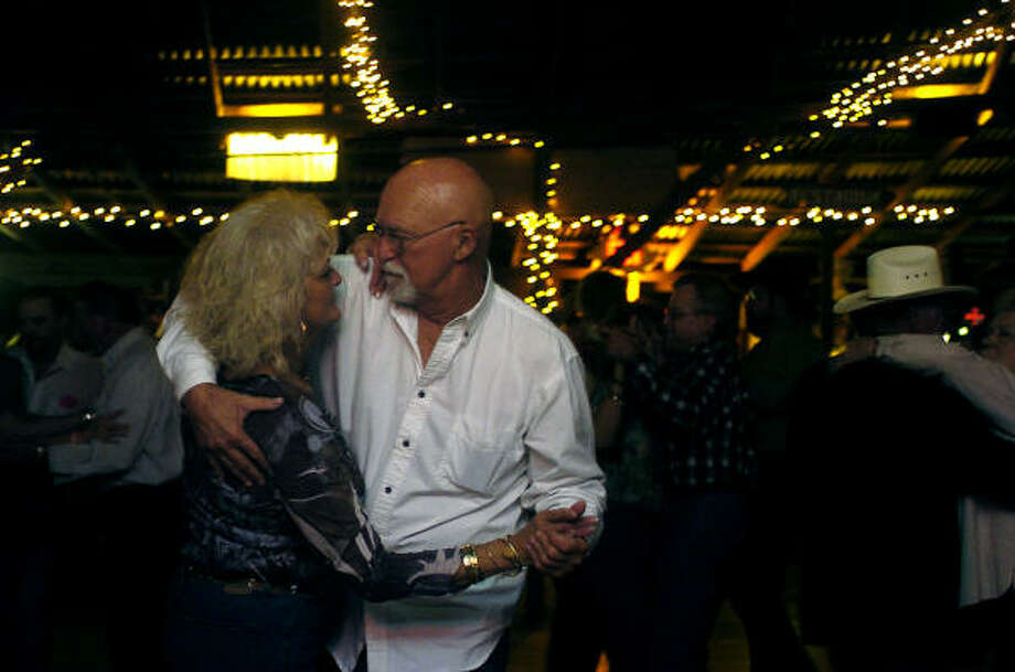 Gary Rodgers, right, and Gladys Keaton take to the dance floor at Swiss Alp Dance Hall. Photo: Shaminder Dulai, Chronicle
