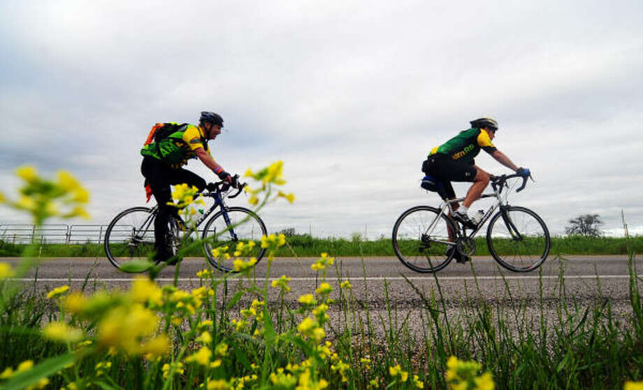 More than 13,000 cyclists participated in April's BP MS 150, a two-day, 180-mile trip from Houston to Austin. Photo: Patrick Meredith, For The Chronicle