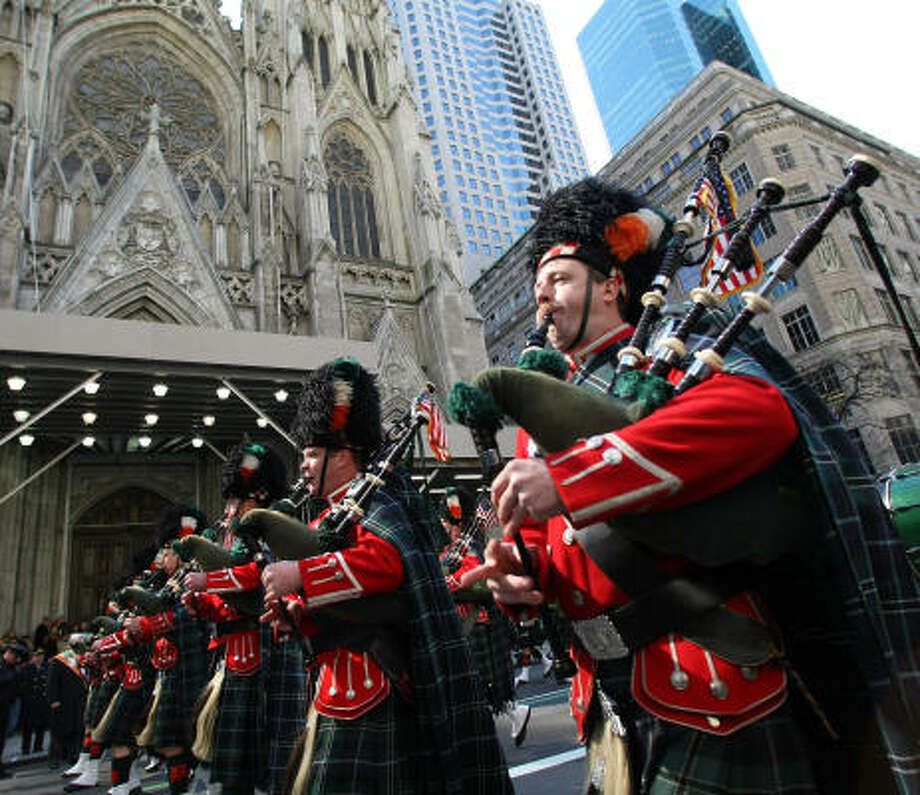 11 pipers piping: $2,635 — no change over 2014. Photo: TIMOTHY A. CLARY, AFP/Getty Images