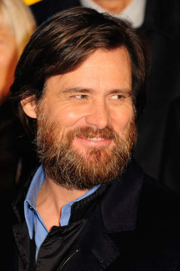 Jim Carrey's beard goes long. Photo: Marco Secchi, Getty Images For Disney