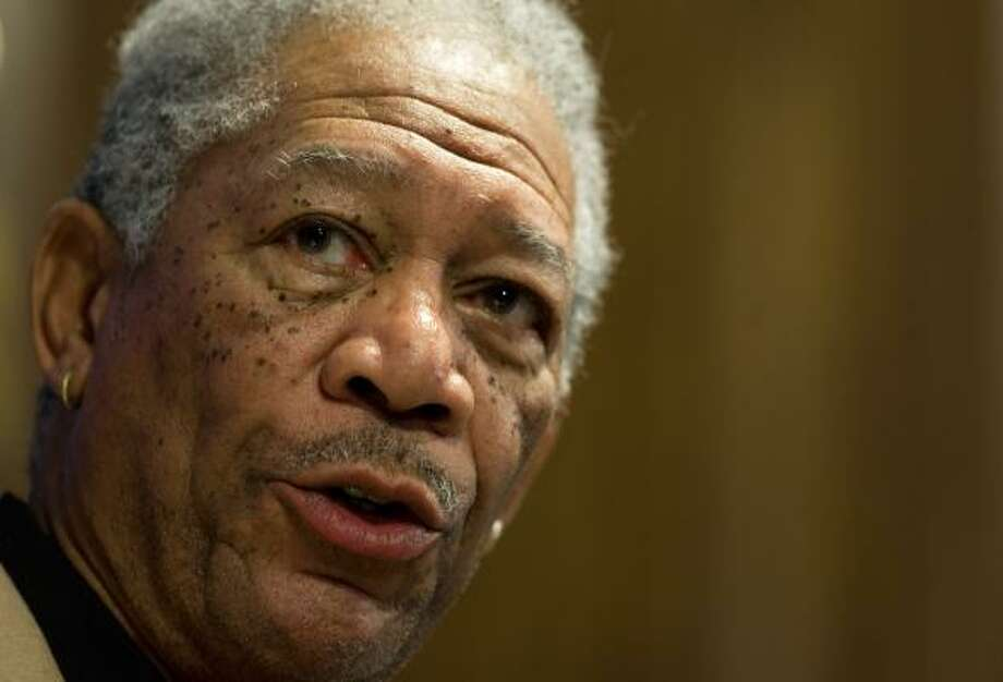 Morgan Freeman with barely a mustache Photo: PAUL J. RICHARDS, AFP/Getty Images