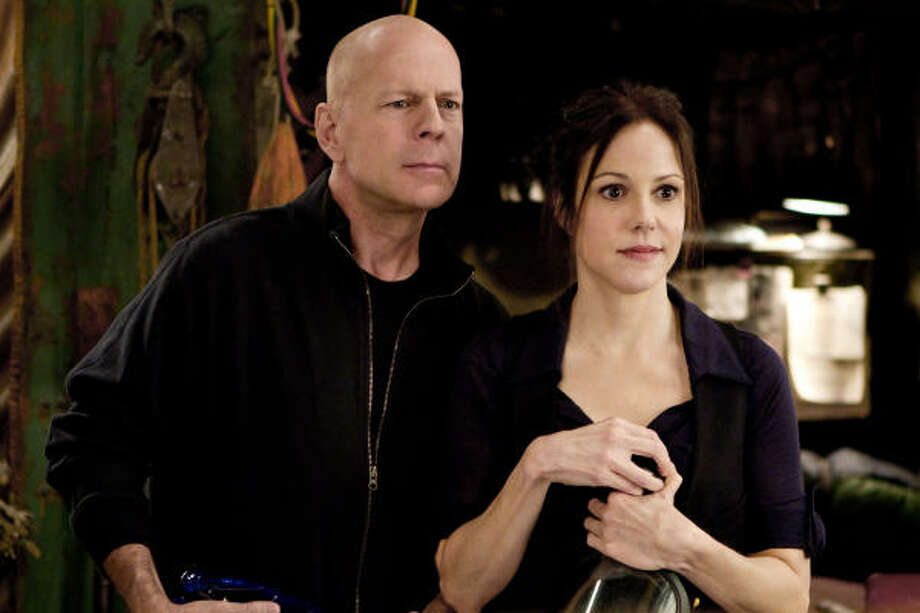 Mary-Louise Parker says she enjoyed the duct-tape scenes with Bruce Willis in RED. Photo: Summit Entertainment