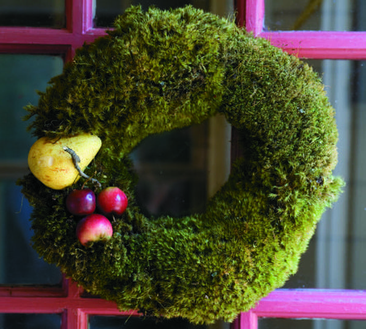 BUY: Moss wreaths are living and can be reused year after year.