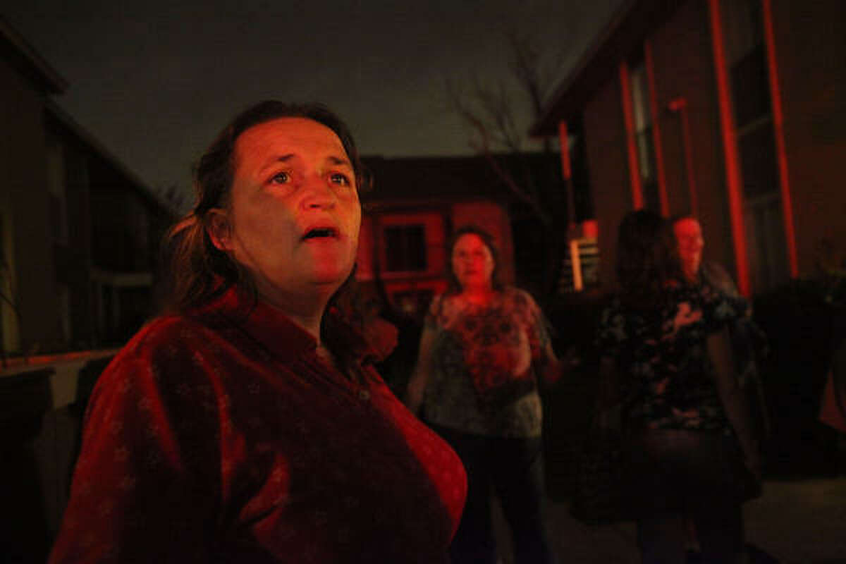 According to residents, 16 units were destroyed at Cinnamon Ridge Complex on Monday.