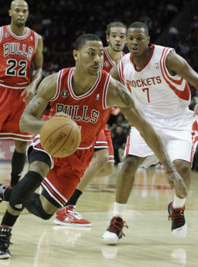 """P.J.""Chicago Bulls star Derrick Rose didn't elaborate on his son's name in his tweets last month. He'll have plenty of time to spend with the boy as he recuperates from a knee injury. (USA today says the kid is ""ridiculously cute"" and has the pics to back that up.) Photo: Pat Sullivan, AP"