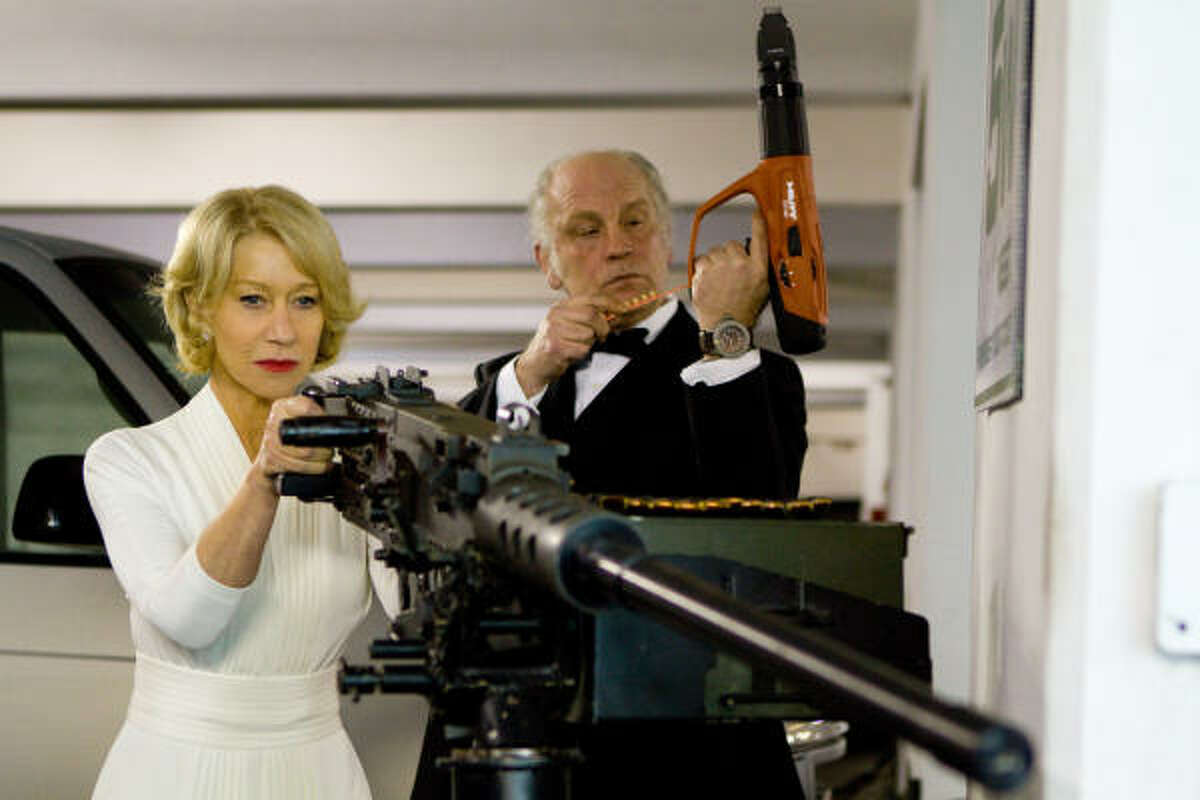 RED ,$2.5 million: Aging spies come out of retirement to battle assassins. Co-starring Helen Mirren and John Malkovich.