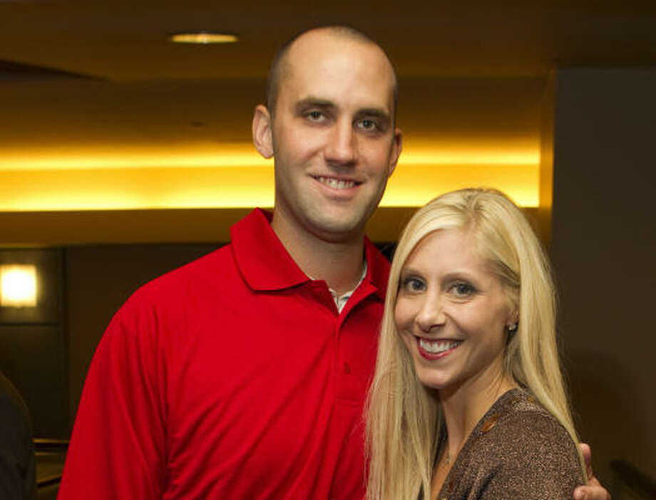 Houston Texans quarterback Matt Schaub and his wife Laurie Photo: Brett Coomer, Houston Chronicle