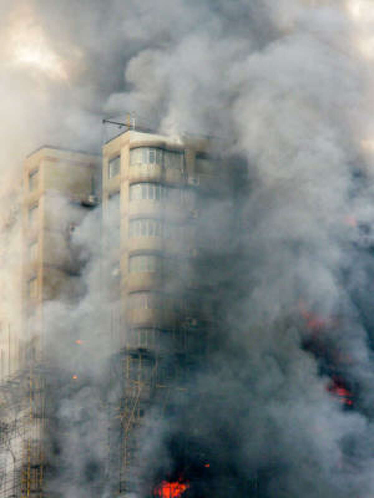A 28-story apartment building that was under renovation was damaged by fire in the downtown area of Shanghai, east China, killed at least 53 people and left more than 70 hospitalized.