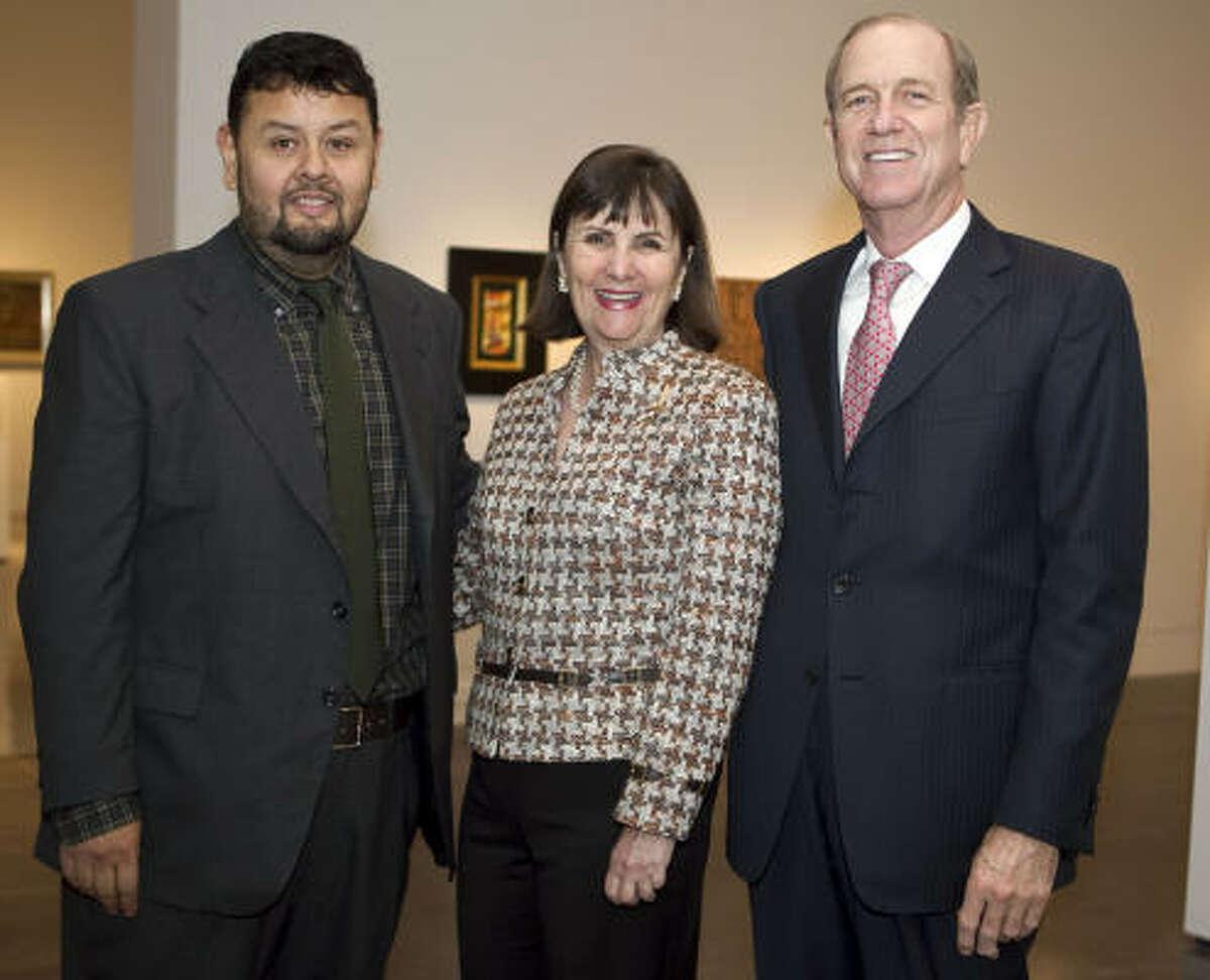 Gilbert Vicario with Lesile Bucher and Brad Bucher