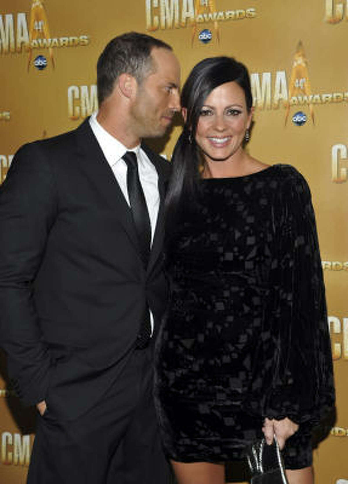 Country star Sara Evans and her husband, Jay Barker