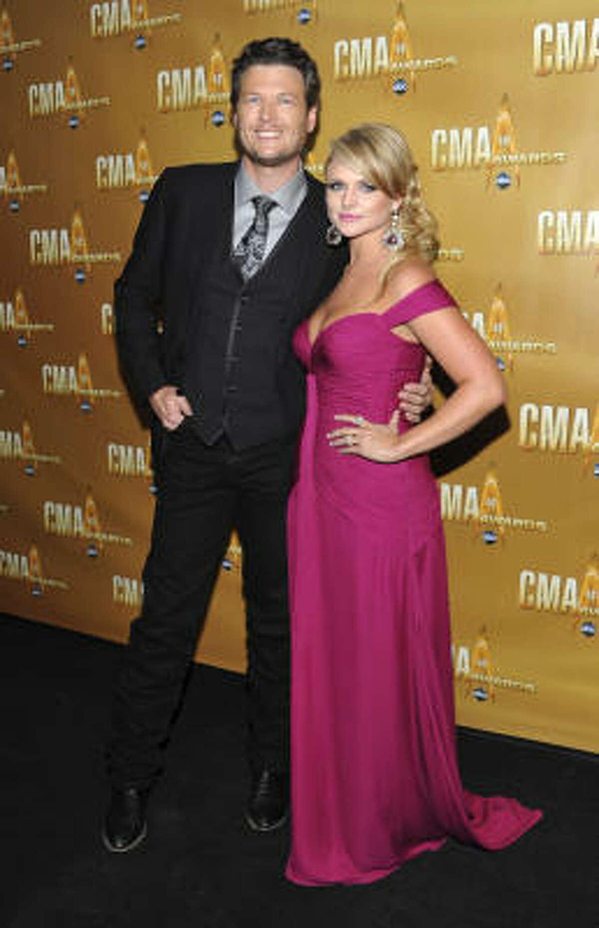 Country couple Miranda Lambert and Blake Shelton
