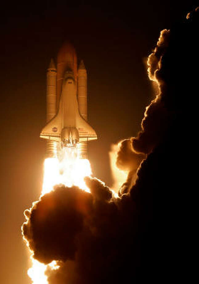 Space Shuttle Endeavour blasts off at NASA's Kennedy Space Center on Monday in Cape Canaveral, Fla. Photo: Eliot J. Schechter, Getty Images