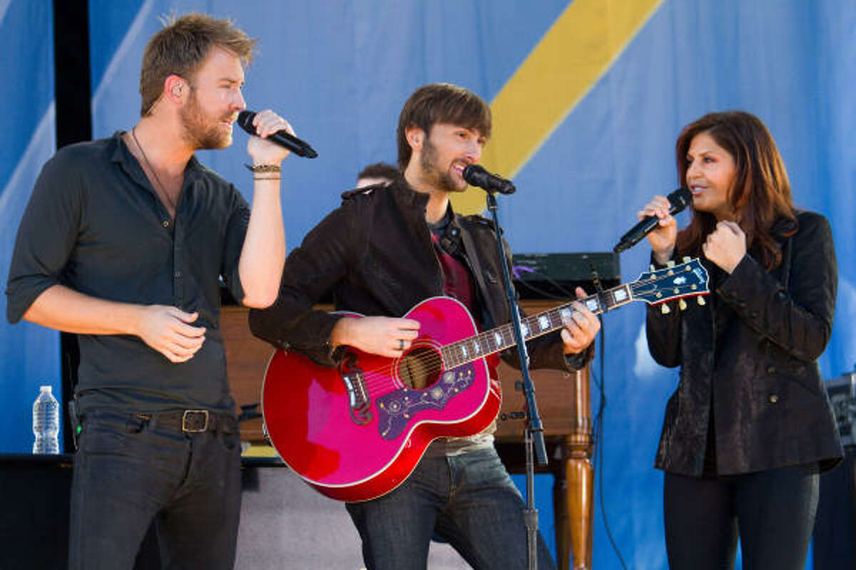 Lady Antebellum for Entertainer of the Year, Album of the Year, Vocal Group, Single of the Year (