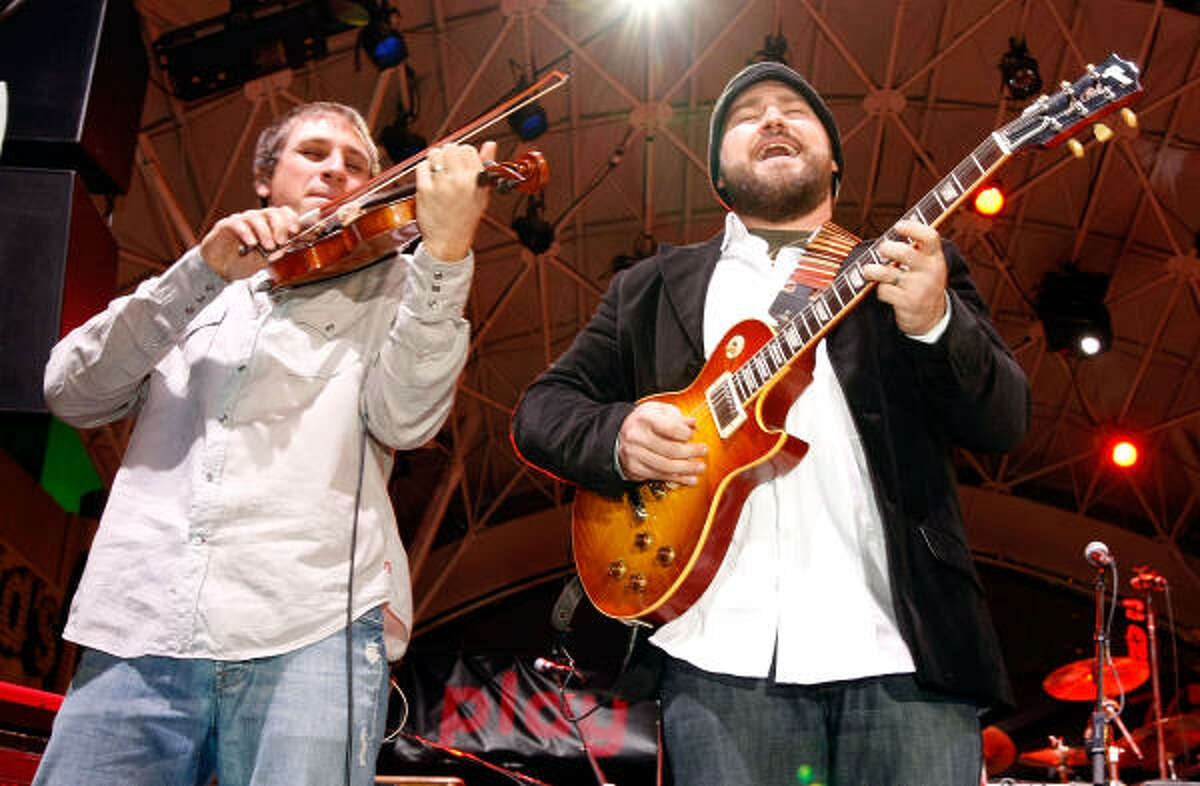 Zac Brown Band for Entertainer of the Year, New Artist, Vocal Group, Song of the Year (