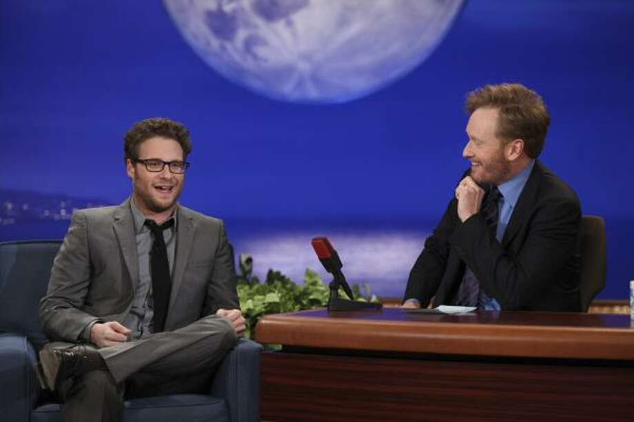 "As a guest on Conan O'Brien's new show, Seth Rogen claimed his medical marijuana card was for a very specific ailment - called ""I ain't got no weed on me right now."" Photo: AP"