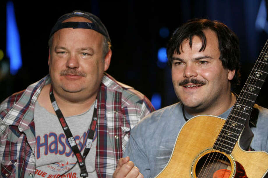 Tenacious D, also known as Kyle Gass, left, and Jack Black, performed at a 2004 NORML benefit in L.A. Black talked about pot use in High Times magazine. Photo: Casey Rodgers, AP IMAGES FOR BLIZZARD