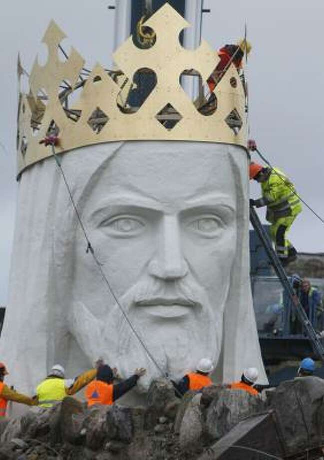 The world's biggest statue of Jesus Christ went up in Western Poland over the weekend. Photo: Czarek Sokolowski, AP