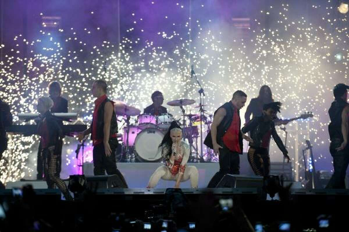 Katy Perry performs live onstage. The newlywed pop star won best video for