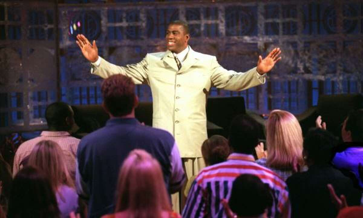 """Magic Johnson, NBA As great as he was on the court, the Lakers legend's stint as a talk show host was abysmal, with """"The Magic Hour"""" only lasting from June to September 1998. The ratings and reviews were brutal."""