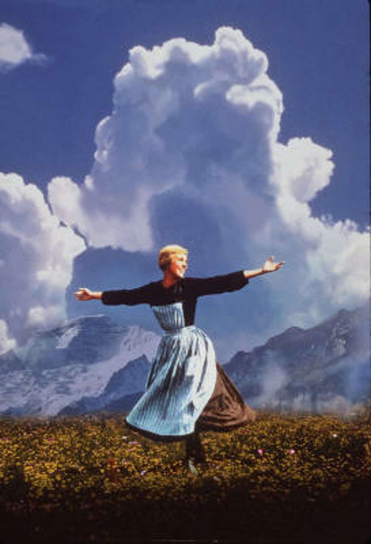 The Sound of Music Oh, how do you solve a problem like Maria? Let her romp around the Austrian countryside then fall in love with a widowed military captain!