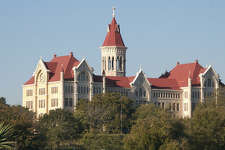 St. Edward's University, Austin   This University draws it's name from St. Edward the Confessor. Of English nobility, St. Edward is the  patron saint of  the English royal family. He is also the patron saint difficult marriages because he remained married to satisfy people even though although he was celibate. Click   here   for more on St. Edward.